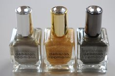 Metallic polishes set- both the colors and bottles feel party-ready