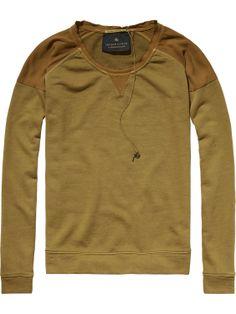 Lichte zomersweater met geweven zijden details   Sweat   Dameskleding bij Scotch & Soda