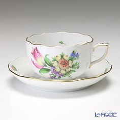 Herend Tulip Bouquet Teacup/Saucer
