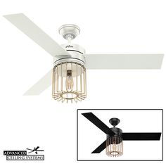 7 Rustic Industrial Ceiling Fans With Cage Lights You'll Love — Advanced Ceiling Systems Industrial Ceiling Fan, Rustic Industrial Decor, Modern Industrial, Ceiling Fan Vaulted Ceiling, Bedroom Ceiling, Ceiling Fan Makeover, Cage Light, House Inside, Lights