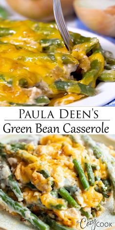 This homemade Green Bean Casserole recipe from Paula Deen is an easy make-ahead . - This homemade Green Bean Casserole recipe from Paula Deen is an easy make-ahead side dish idea for - Side Dishes Easy, Vegetable Side Dishes, Side Dish Recipes, Vegetable Recipes, Side Dishes For Turkey, Camping Side Dishes, Southern Side Dishes, Main Dishes, Easter Side Dishes