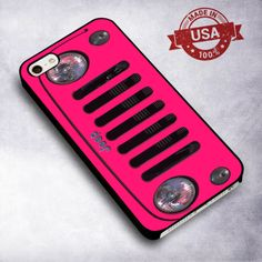 Pink Jeep Front - For iPhone 4/ 4S/ 5/ 5S/ 5SE/ 5C/ 6/ 6S/ 6 PLUS/ 6S PLUS/ 7/ 7 PLUS Case And Samsung Galaxy Case
