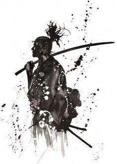 Japan Samurai Digital sketch Samurai-Skizze Tattoo-Skizze – Samurai art – - Tattoo New Ronin Samurai, Samurai Warrior, Samourai Tattoo, Samurai Artwork, Miyamoto Musashi, Poster Art, Art Japonais, Japan Art, Japan Japan