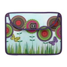 A very pretty design; so colorful and charming with bright whimsical flowers and a cute butterfly in a summer meadow.