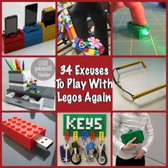 34 DIY Lego Crafts Ideas to Build with Bricks Diy Lego, Lego Craft, Crafts To Sell, Easy Crafts, Diy And Crafts, Craft Tutorials, Diy Projects, Lego Club, Craft Wedding