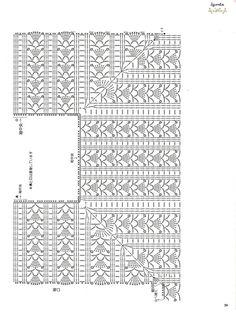Irish lace, crochet, crochet patterns, clothing and decorations for the house, crocheted. Crochet Stitches Chart, Crochet Diagram, Thread Crochet, Crochet Motif, Irish Crochet, Crochet Lace, Crochet Patterns, Crochet Collar, Crochet Blouse