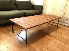 アイアン ローテーブル W120×D60×H32|テーブル・机|steels|ハンドメイド通販・販売のCreema