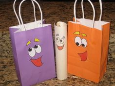 dora birthday favors water candy popcorn wrapper labels