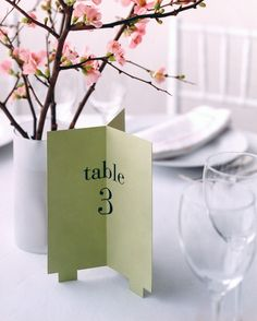 Like a beacon, this table number declares its location in all directions.