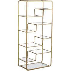 Pier 1 Imports Gold Enzo Tall Shelf ($255) ❤ liked on Polyvore featuring home, furniture, storage & shelves, gold, storage shelves, storage furniture, shelving furniture, modern shelving and shelves furniture