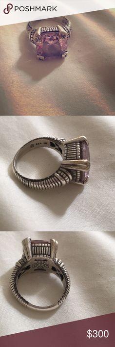 Ring Beautiful Judith Ripka ring. Pink stone. Silver. Jewelry Rings