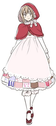"""Belgium, Hetalia ~ It's been suggested that the tale """"Little Red Riding Hood"""" was derived from an 11th-century poem from Belgium which was recorded by a priest. This tale, told by the local peasants, described a girl wearing a red baptism tunic who wanders off and encounters a wolf."""