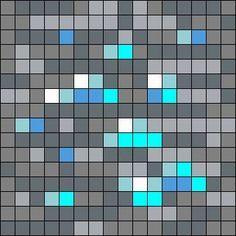 Diamond Ore Minecraft Pixel Art
