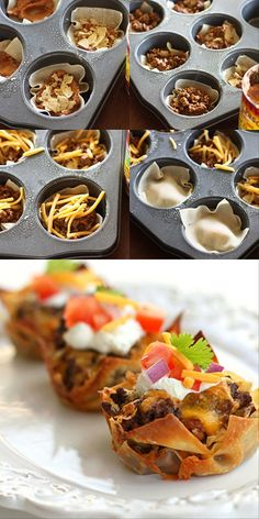 "Taco Cupcakes {Vote for ""Best Bites - Taco"" in this year's #TheMunchies here: http://www.tablespoon.com/themunchies}"