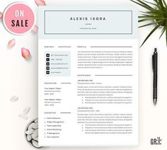 Clean  Pages Resume Template Word By Equinox Studio On