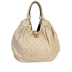 This Mahina L Sandy bag by Louis Vuitton is elegant, with a relaxed finish that makes it the perfect complement to a daytime outfit. It features a feminine and chic slouchy look and an ultra-spacious interior to hold all your daily essentials. Louis Vuitton Dust Bag, Daytime Outfit, Shades Of Beige, Designer Bags, Take That, Essentials, Feminine, Shoulder Bag, Elegant
