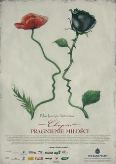 designer: Pagowski Andrzej poster title: Chopin pragnienie milosci year of poster: 2002 poster nationality: Polish The Art of Poster - The largest collection of Polish posters