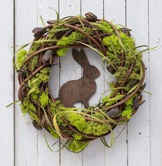 Rustic Easter wreath, spring decorations, natural Easter decor Easter wreath with rabbit spring door decorations moss decor spring wreaths Moss Wreath, Selling Handmade Items, Outdoor Wreaths, Ideias Diy, Spring Door, Deco Floral, Easter Wreaths, Spring Wreaths, Wreaths For Front Door