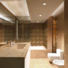 #Decoracion #Moderno #Baño #Sanitarios #Dibujos #Vidrio #Lamparas #Griferia #Grifos