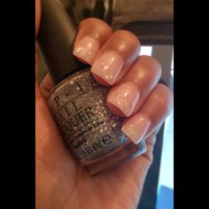 Acyrlic nails with colored powder tips
