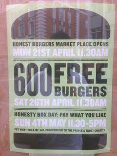 Twitter / honestburgers : Market place/oxford circus ...