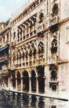 We help you make your trip to Italy, Venice memorable and interesting. We picked the most popular Venice attractions and present them to you with stunning images. Architecture Antique, Watercolor Architecture, Architecture Sketches, Italy Pictures, Grand Canal, Grand Tour, Travel Images, Paris, Italy Travel