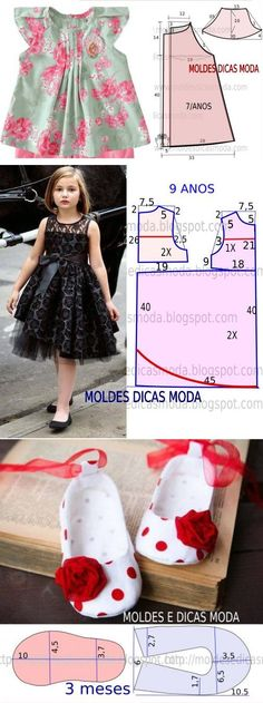 49 Trendy Ideas For Children Dress Patterns Diy Baby Girls Fashion Sewing, Fashion Kids, Little Girl Dresses, Girls Dresses, Costura Fashion, Kids Dress Patterns, Diy Dress, Kind Mode, Kids Outfits