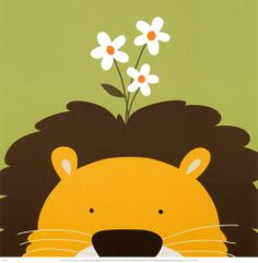 Peek-a-Boo IX, Lion Print by Yuko Lau at AllPosters.com