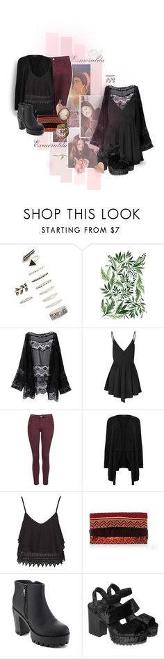 """""""Bonfire night"""" by nowheregirl17 ❤ liked on Polyvore featuring Forever 21, Disney, Glamorous, Topshop, New Look, Krochet Kids, Refresh and Monki"""