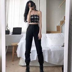 What is your favorite outfit: 1 2 or Egirl Fashion, Korean Girl Fashion, Korean Fashion Trends, Ulzzang Fashion, Kpop Fashion Outfits, Edgy Outfits, Korean Outfits, Cute Casual Outfits, Asian Fashion