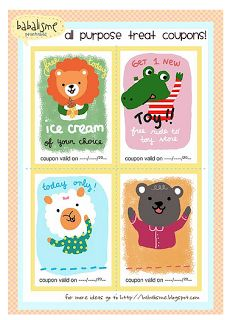 Frugal Life Project: Printable Treat Coupons for Kids!