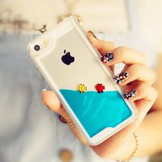 My Personal Fish Tank Cute Creative iPhone 5 Case iPhone 5S Case - Ocean Blule on Etsy, $9.99