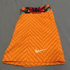 Nike Pro Spandex Shorts Hardly ever worn bright orange Nike pros. Runs slightly small. 2.5 inch inseam Nike Shorts