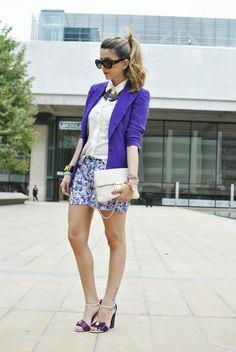 Shop this look on Kaleidoscope (blazer, shorts, top, sandals, necklace, clutch)  http://kalei.do/WJzSItemD8BNtaKP
