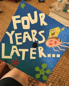 SpongeBob decorated graduation cap!