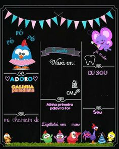 Descrição para a festa de Henry First Birthday Board, Girl Birthday, Chalkboard Art, Alice, Candy Colors, First Birthdays, Fondant, Minnie Mouse, Clip Art