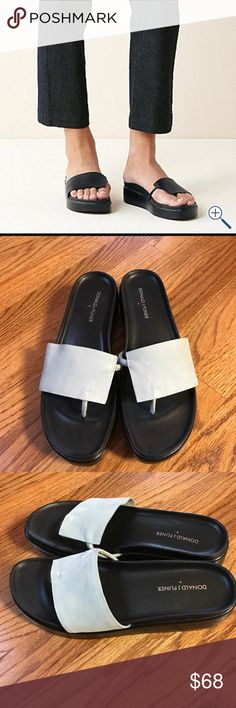Donald j Pliner  fifi sandal baby blue suede NWOT Donald J Pliner fifi sandal in very light baby blue suede no signs of wear only thing I see is a slight mark probably from being in box NWOT NEVER WORN Donald J. Pliner Shoes Sandals