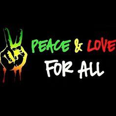 Peace and Love Reggae Art, Reggae Music, Rasta Art, Rasta Lion, Jah Rastafari, Rastafari Quotes, Peace Fingers, Give Peace A Chance, World Peace