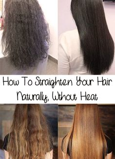 Straighten your hair takes you too much time and makes your hair dried and burnt? Find out How To Straighten Your Hair Naturally, Without Heat!