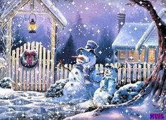 Animated Snow Scenes | Winter Scene, animated with snow flakes photo Winter2withsnowflakes ...