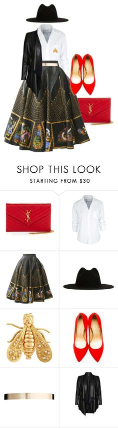 """""""Untitled #3300"""" by stylebydnicole ❤ liked on Polyvore featuring Yves Saint Laurent, Frank & Eileen, Études, Chaumet, Charlotte Olympia, ASOS and City Chic"""