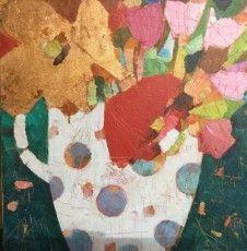 Sally Anne Fitter Emma's Flowers 16 x 16 in £ 295