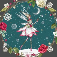 A magical fairy made from a Christmas Rose.