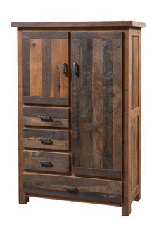 This Reclaimed Wood Farmhouse Armoire by DutchCrafters Amish Furniture is certain to add a little country charm into any bedroom. Painting Wooden Furniture, Reclaimed Wood Furniture, Rustic Furniture, Furniture Decor, Antique Furniture, Modern Furniture, Salvaged Wood, Barn Wood Furniture, Outdoor Furniture