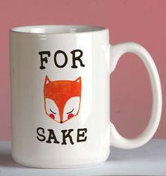 For Fox Sake Mug mug coffee, mug tea, size 8,2 x 9,5 cm