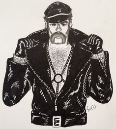 If I don't draw Glenn my brain starts to grow mold - Original Village People Art by Village People, People Art, My Brain, Indie, Original Art, Draw, The Originals, Drawings, Painting