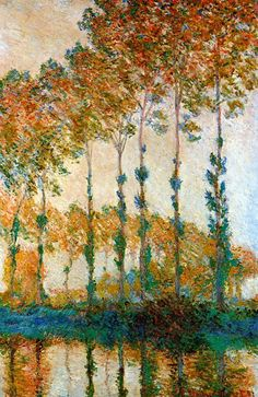 Claude Monet. Poplars on the Banks of the Epte, Autumn (1891).