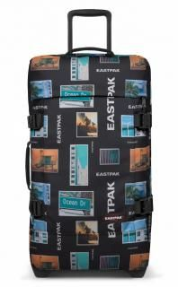 Techno fabric Logo Multicolor pattern Bag handle Internal zip pocket Fully lined Combination lock External pockets Internal compartments Bottom with wheels Soft shell Water-repellent fabric Nylons, Walkie Talkie, Good Things, Unisex, Bags, Trolley, Techno, Shell, Handle
