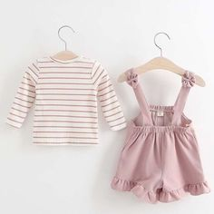 Stripes Ruffle Hem Set