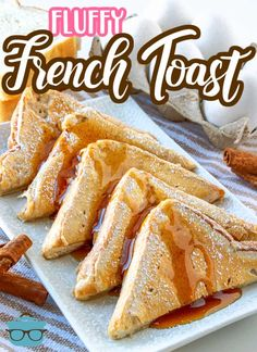 No limp and soggy french toast with this recipe! The thick bread is dipped into a pancake-like batter just like your favorite diner! Southern Breakfast, What's For Breakfast, Brunch Recipes, Fall Recipes, Breakfast Recipes, Fluffy French Toast, Kid Friendly Meals, Country Cook, Easy Meals